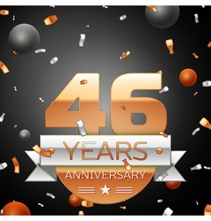 Forty six years anniversary celebration background vector