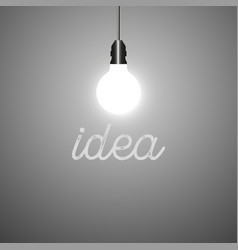 glowing light on a gray background idea vector image
