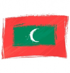 Grunge Maldives flag vector