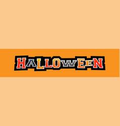 halloween letters vector image