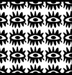 hand drawn seamless pattern with tribal vector image