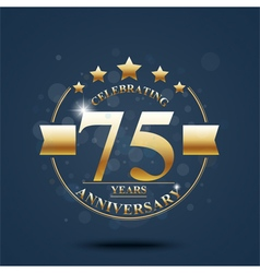 Happy anniversary celebration on gold design vector