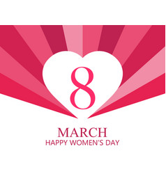 happy women day 8 march mothers day greeting vector image vector image