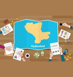 Hyderabad india capital city region economy vector