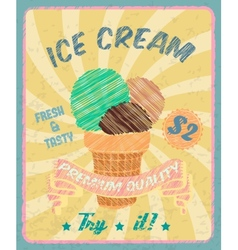 Ice-cream poster vector image