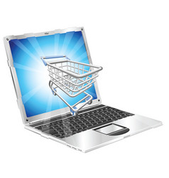 internet shopping laptop concept vector image