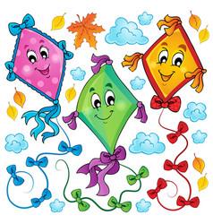 Kites theme image 3 vector
