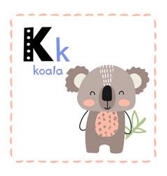 letter k funny alphabet for children vector image