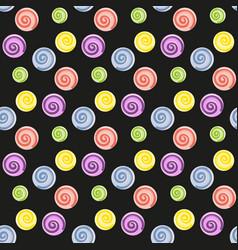 Lollipop candy seamless pattern vector