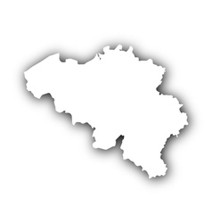 Map of belgium with shadow vector
