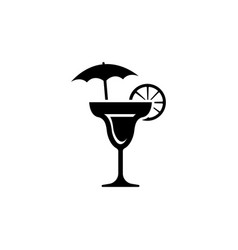 martini icon cocktail drink vector image