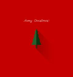merry christmas with christmas tree vector image
