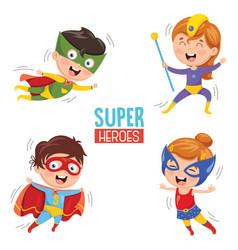 Of superheroes vector