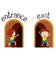 Opposite wordcard for entrance and exit vector