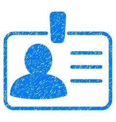 Personal badge grainy texture icon vector