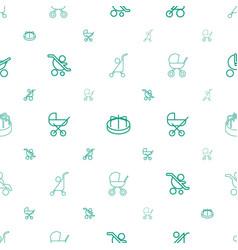 pram icons pattern seamless white background vector image