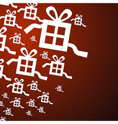 Present Gift Boxes on Red Background vector