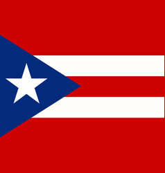 puerto rico flag page symbol for your web site vector image