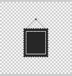 rectangular picture frame hanging on the wall icon vector image