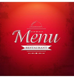Red Menu Background vector