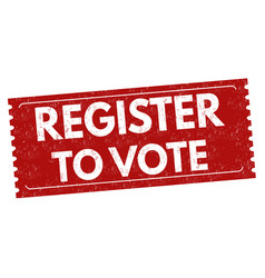 Register to vote sign or stamp vector