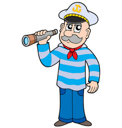 sailor with spyglass vector image