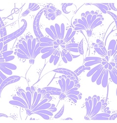 seamless floral pattern in a doodle style vector image