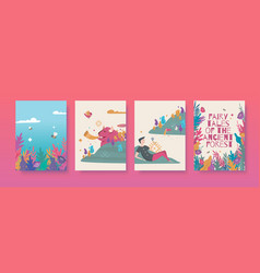 set for fairy tales vector image