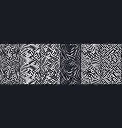 Set organic seamless patterns with rounded vector