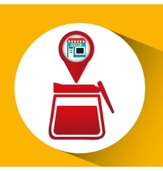 Smartphone break store app location vector