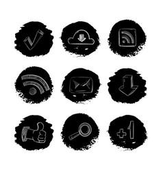 social media network hand drawn icons set vector image