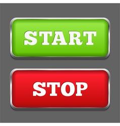 Start Stop Buttons vector
