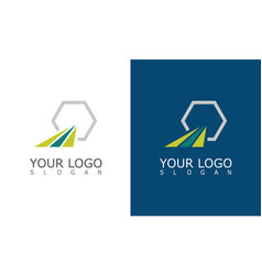 stripe polygon company logo vector image