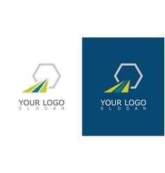 stripe polygon company logo vector image
