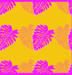 tropical seamless pattern with leaf monstera vector image