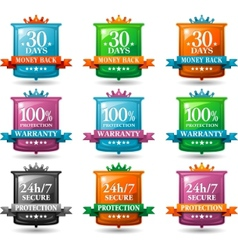 Web satisfaction guarantee badges vector