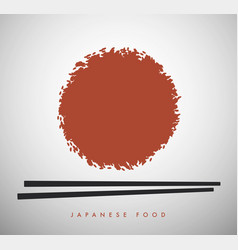 white rice bowl and chinese sticks-02 vector image
