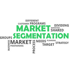 Word cloud - market segmentation vector