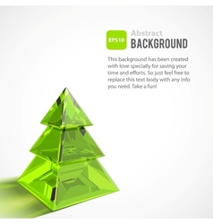Abstract background with Christmas tree vector image vector image
