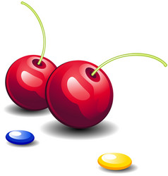 cherries and candy vector image vector image