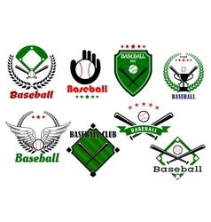 Creative baseball sports emblems and symbols vector image vector image