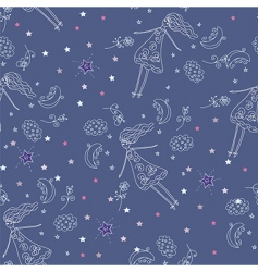 fairytale seamless pattern vector image vector image