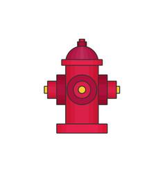 hydrant flat icon vector image