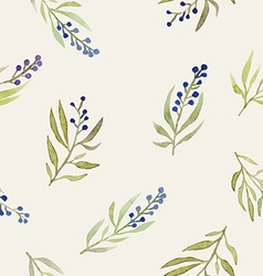 Watercolor seamless flowers pattern vector