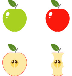 apple computer icons vector image vector image