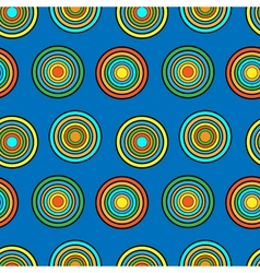 Blue and orange circles seamless pattern vector image