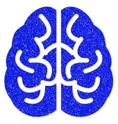 brain grunge icon vector image