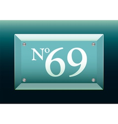 glass number sign vector image vector image
