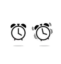 Alarm clock icon isolated on white vector