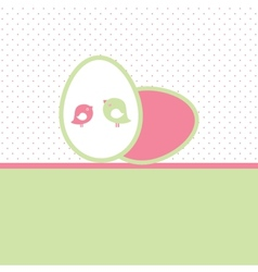 Easter card with two hand drawn eggs vector image vector image